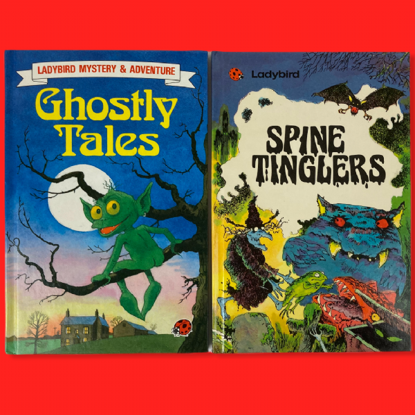 Ladybird 'Ghostly Tales and 'Spine Tinglers' - Gloss Hardback Books 1980s Retro